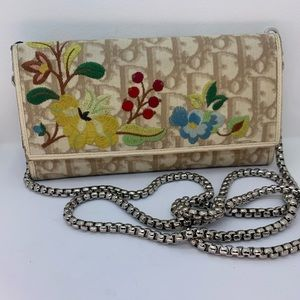 Dior Floral Trotter Wallet on Chain